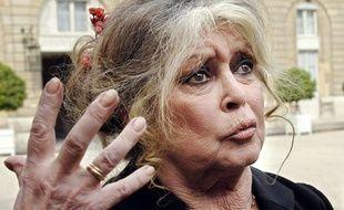 Brigitte Bardot à l'Elysée, le 27 septembre 2007.