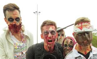 Lors de la Zombie Walk toulousaine 2015.