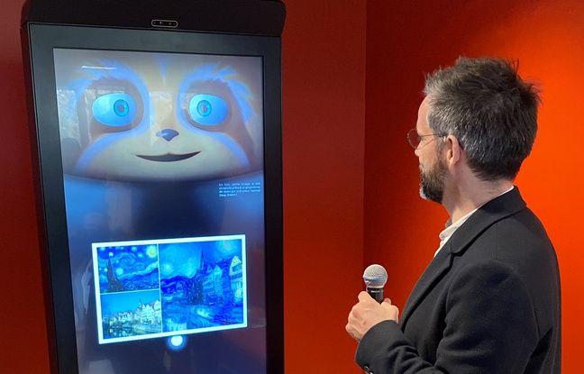 SPooNy accueille les visiteurs de la maison de l'intelligence artificielle à Sophia Antipolis, dans les Alpes-Maritimes