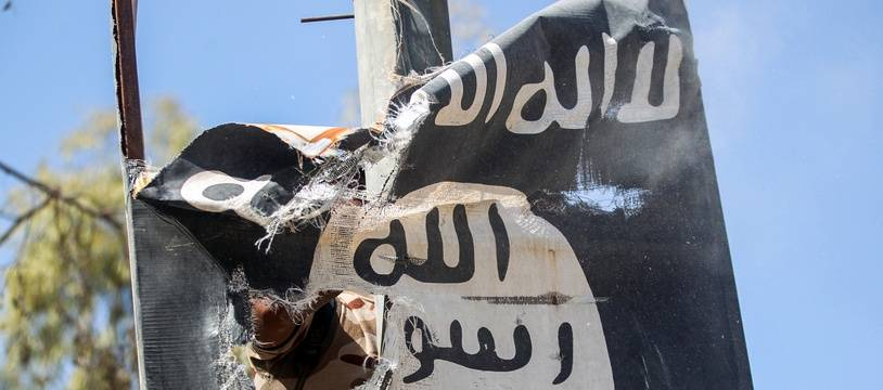 Un logo de l'organisation Etat islamique en Irak. (Illustration)