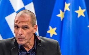 Yanis Varoufakis, le ministre grec des Finances, à Bruxelles, le 16 février 2015.