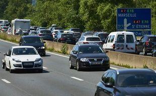 Circulation dense près de Lyon (illustration)
