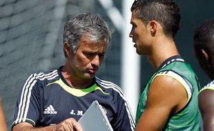 José Mourinho et Cristiano Ronaldo, le 29 juillet 2010 à Los Angeles.