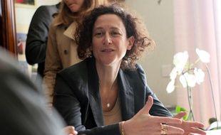 La secrétaire d'Etat à la transition écologique Emmanuelle Wargon ici lors de sa visite à Orgères, près de Rennes, le 8 novembre 2018.