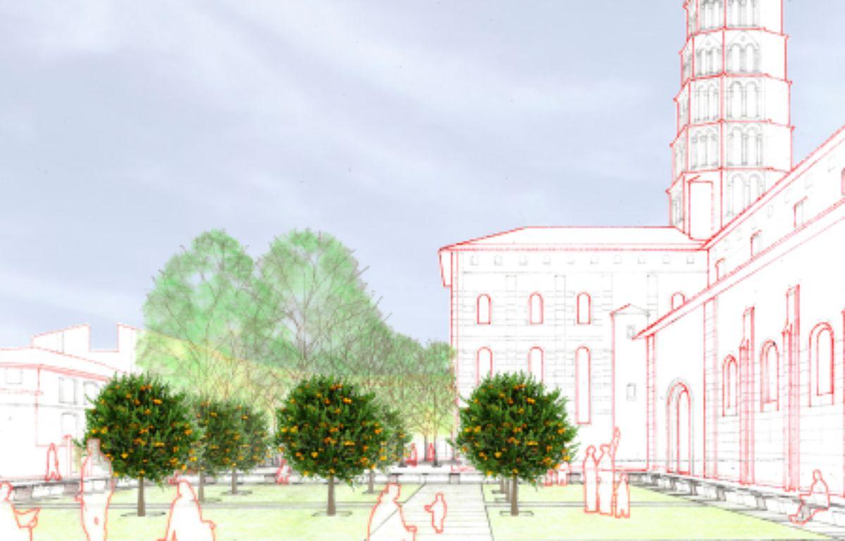 Vue d'artiste du réaménagement de Saint-Sernin – Agence BAU-B- Joan Busquets