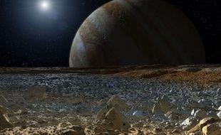 Visuel illustrant Europe, l'une des lunes de Jupiter.