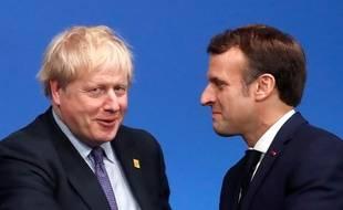Le Preier ministre britannique Boris Johnson et le président français Emmanuel Macron, lors du sommet de l'Otan à Londres, le 4 décembre 2019.