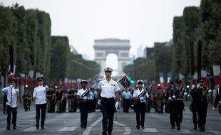 Répétitions du défilé du 14-Juillet, le 12 juillet 2018 à Paris.
