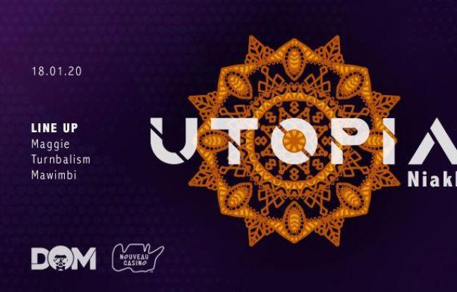 Visuel ethnique pour la soirée Utopia: Niakha au Nouveau Casino