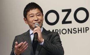 Le président du site de vente de vêtements Yusaku Maezawa, le 20 novembre 2018 à Tokyo.