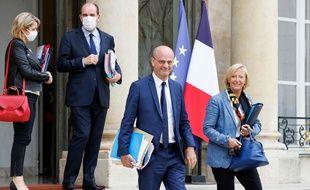 Jean-Michel Blanquer et Sophie Cluzel, le 23 juin 2021.