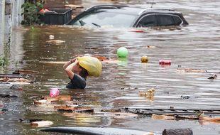 Liège, en Belgique, est touchée par d'importantes inondations.