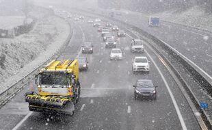 Illustration de la neige sur les routes.