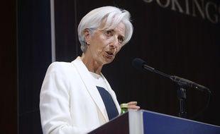Christine Lagarde, directrice générale du FMI, lors d'une conférence à Washington (Etats-Unis), le 8 juillet 2015.