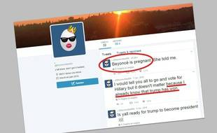 Capture d'écran du compte Twitter @beyoncefan666 dont les «prédictions» se sont avérées.