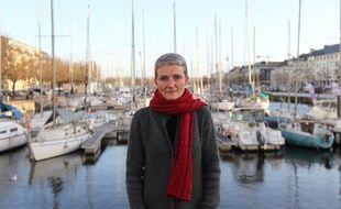 Photo d'archives prise sur le port de Caen le 13 décembre 2011, de Nathalie Barre, la mère de Mathis, 8 ans, qui a disparu à Caen en septembre 2011.
