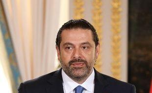 Saad Hariri, le 1er septembre 2017 à Paris, lors d'une conférence de presse. (photo d'illustration)