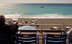 La plage, à Nice.