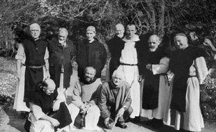 Photo non datée des moines de Tibéhirine, dont sept ont été tués en 1996