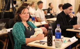 L'élue écologiste Lucile Koch, ici lors du conseil municipal d'installation à Rennes, le 3 juillet 2020.