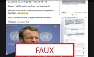 Ce calcul s'appuie sur une augmentation du SMIC, alors que la hausse annoncée par Emmanuel Macron sera répercutée sur la prime d'activité.