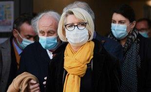 Isabelle Fouillot, la mère d'Alexia Daval, lors du procès à Vesoul.
