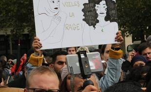 Lors d'un précédent rassemblement contre l'islamophobie, place de la République, à Paris, le 10 octobre 2019.