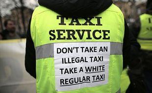 Une manifestation anti-UberPOP.
