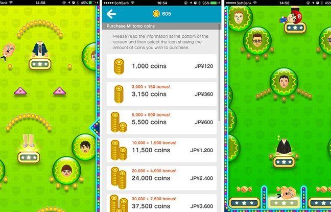 Des mini-jeux permettent de gagner des Miitomo coins.
