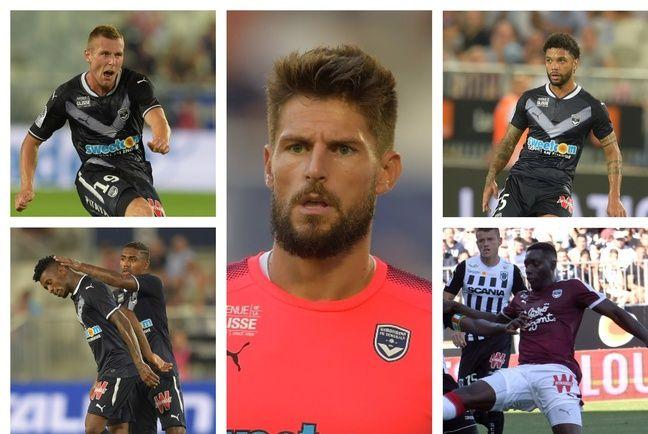Lerager, Cafu, Costil, Otavio et Mendy (de gauche à droite) ont débarqué aux Girondins cet été.