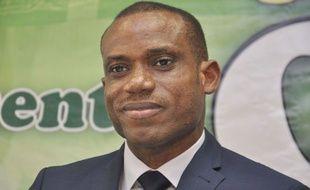 Sunday Oliseh lors de sa présentation en tant que sélectionneur du Nigeria