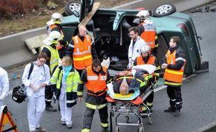 Un accident de la route en janvier 2014 à Roubaix