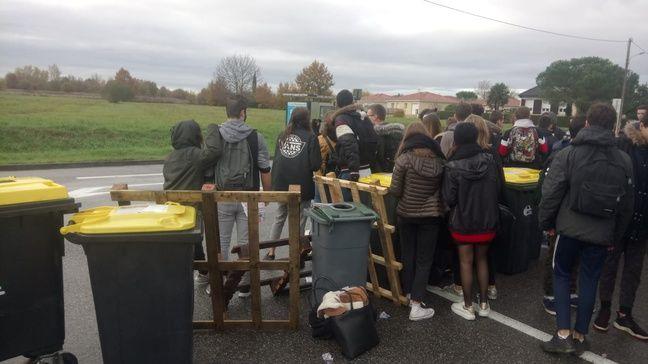 Mobilisation des lycéens à Fronton, le 3 décembre.