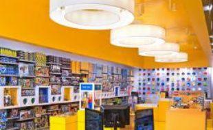 L'intérieur d'un «Lego Store», boutique de la marque Lego.