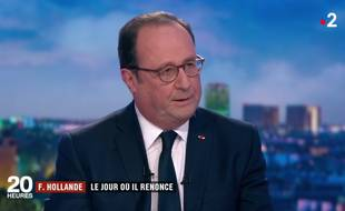 François Hollande sur France 2, le 10 avril 2018.