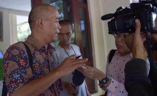 Sugiono, l'expert indonésien cité par la défense du Français Serge Atlaoui, le 26 mai 2015 au tribunal à Jakarta