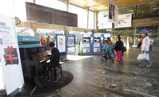Un piano à la gare de Nantes (photo d'illustration).