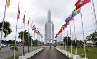 L'entrée du centre spatial guyanais à Kourou.