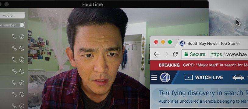 John Cho dans Searching: Portée disparue de Aneesh Chaganty