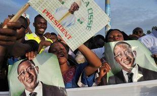 Des partisans de Soumaïla Cissé, le 9 août 2013 à Bamako