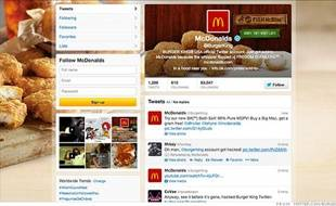 Le compte Twitter de Burger King a été piraté aux couleurs de McDonald's le 18 février 2013.