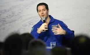 L'astronaute Thomas Pesquet, le 6 juin en direct du centre de l'Agense spatiale européenne, à Cologne.