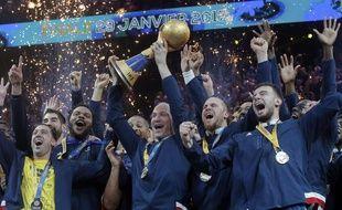 L'équipe de France de handball championne du monde à domicile, le 29 janvier 2017.