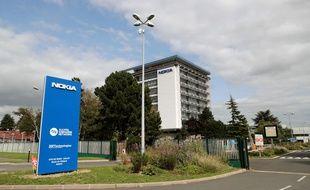 Le site de Nokia à Nozay, près de Paris.