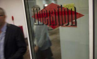 Au siège du journal Libération, le 3 septembre 2013, à Paris.
