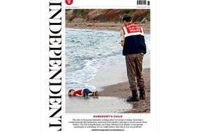 La Une du journal britannique The Independent, le jeudi 3 septembre 2015.