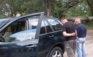 Un des trafiquants arrêtés en Moldavie le 24 août 2010.