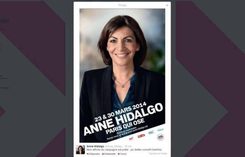 Municipales 2014 Anne Hidalgo Devoile Son Affiche De Campagne A Paris