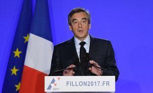 François Fillon à son QG parisien, le 1er mars 2017.