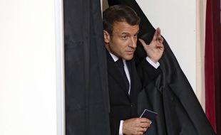 Emmanuel Macron a voté au Touquet à l'occasion des élections européennes, le 26 mai 2019.